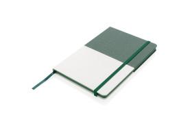 Блокнот Deluxe A5 с комбинированной обложкой, зеленый