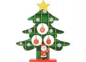 Декоративная елочка c игрушками и Дедом Морозом