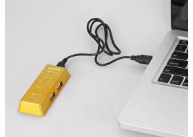 USB Hub «Слиток золота» на 4 порта